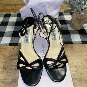 Jimmy Choo, Ankle wrap heels.